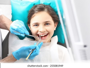 Viewed oral hygiene. Child to the dentist. Child in the dental chair dental treatment during surgery.