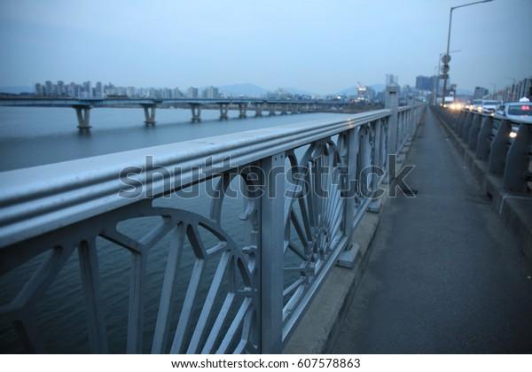 Viewed from the top of Cheonho Bridge.