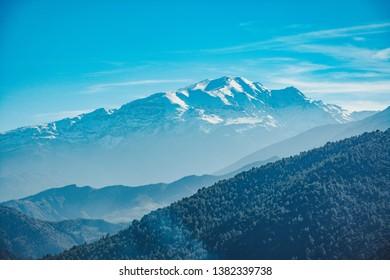 A viewf of the Atlas Mountains, Morocco