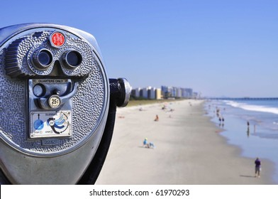 Viewfinder of Myrtle Beach South Carolina on a Summer Day