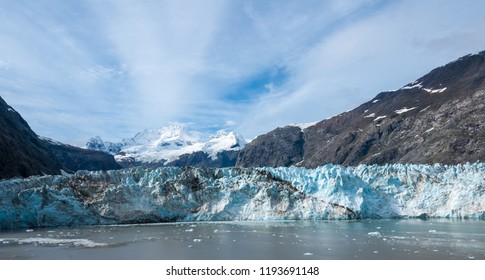 Viewing glaciers from cruise ship in the fall