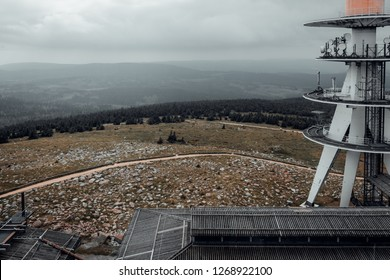 Viewing platform mount Brocken with antenna