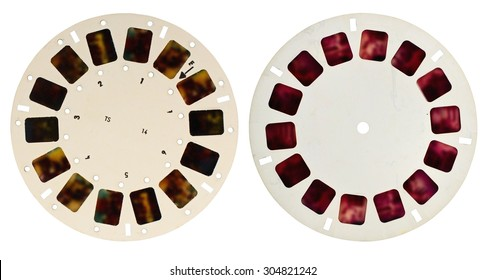 View-master disk isolated on white