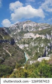 Viewpoint Balcon de la Mescla in famous Gorges du Verdon,Provence,France