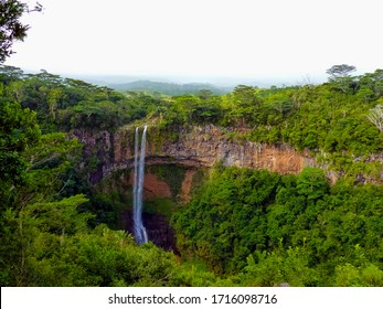 Viewpoint from the Black River National Park to the Chamarel falls, Chamarel, Mauritius Island
