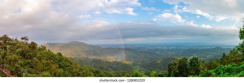 Viewpoint of Doi tung Chiang Rai (Thai people call K.M. 12)