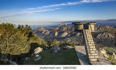 Viewpoint of Fito, view of the Picos de Europa. Asturias, Spain