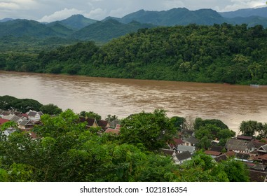 Viewpoint and landscape in Luang Prabang, Laos.