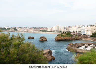 Viewpoint on the city of Biarritz. Basque Coast of France.