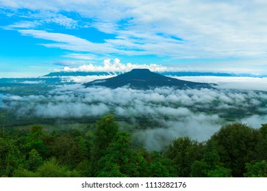 Viewpoint on the mountain in the Phu Pa por  Fuji at Loei, Loei province, Thailand.