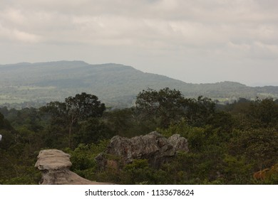 Viewpoint on the top of Pa Hin Ngam National Park at Chaiyaphum in Thailand