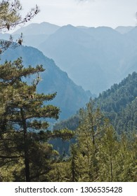 Viewpoint on a top of Samaria gorge, south west part of Crete island, Greece
