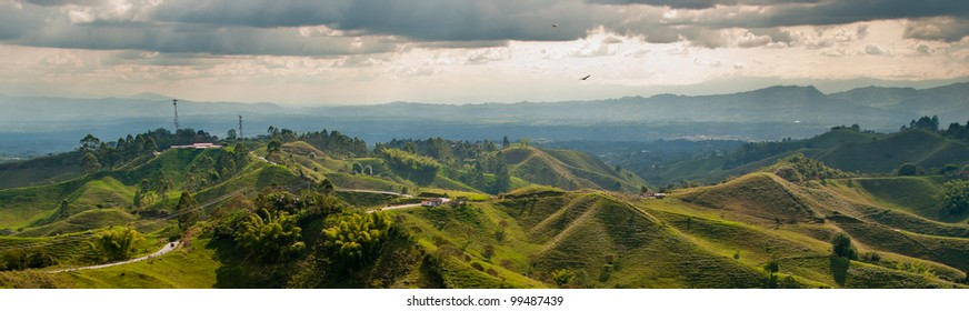 Viewpoint over the coffee growing region of Colombia