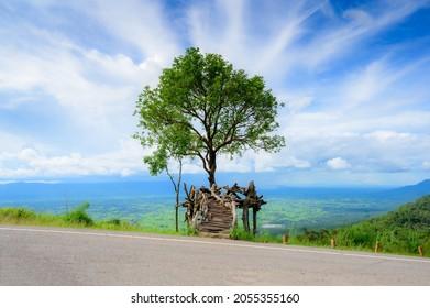 Punto de vista del Parque Nacional de Phulankha, Camping de Phahuanak, Chaiyaphum, Tailandia