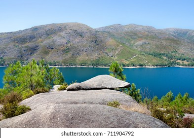Viewpoint, rock, Lake of Vilarinho da Furna dam