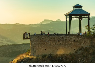 The viewpoint of Ronda, one of the most popular in Andalusia, where you can see the entire Serrania de Ronda.