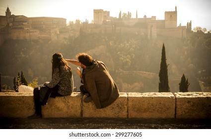 Viewpoint San Nicolas. Granada, Spain