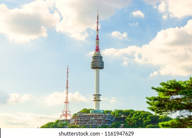 Viewpoint Seoul,South Korea downtown best view landmark in Namsan mountain and beautiful cloudy at Seoul tower