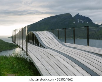 Viewpoint to Skaland, Senja, Norway