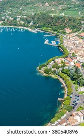 Viewpoint to the small town Garda of the Lake Garda in Italy