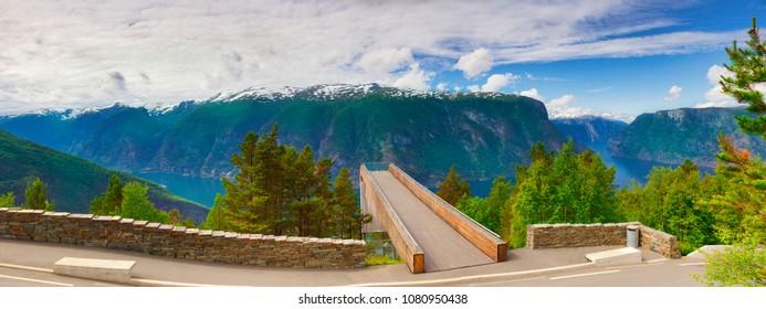 Viewpoint Stegastein in Aurland Norway