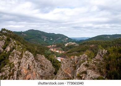 Viewpoint towards villages in Region Figueiró dos Vinhos - Portugal.