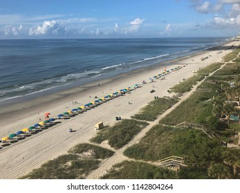 Views from above Myrtle Beaches famous 60 mile Grand Strand.