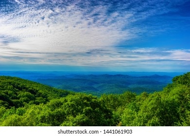Views along the Blue Ridge Parkway Scenic drive where one can view the southern and highest portion of the Appalachian mountain range.