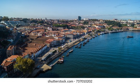 Views along the Douro River and Porto Town Porto Portugal September 2017