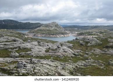 Views around mountain Kjerag, Southern Norway