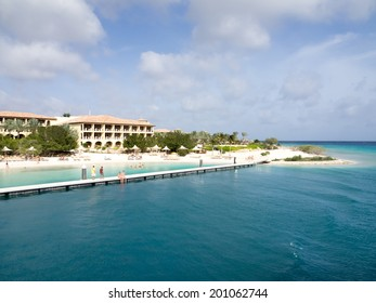 Views around Spanish Water Bay from a boat Curacao Caribbean