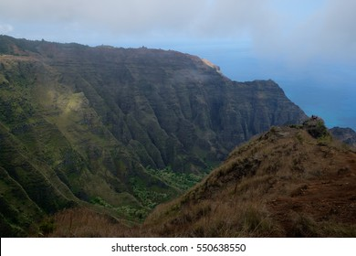 Views from the Awaawapuhi Trail in Kauai, Hawaii