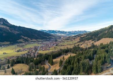Views of Bad Hindelang Valley, Kanzel, Bavaria, Germany