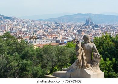 views of Barcelona from montjuic