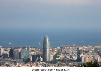 Views of Barcelona from the guinardó park