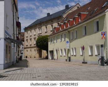 Views of the central historical part of the city of Bayreuth.