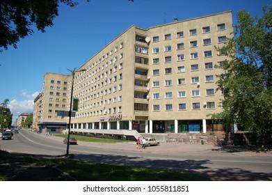 Views of the city in Summer. Vyborg. Leningrad region. Russia. 22.08.2008. Editorial. Selective focus.