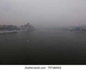Views of the Danubio's river. Budapest