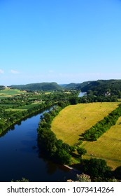 Views of the Dordogne River with from the Chateau de Beynac, Beynac France