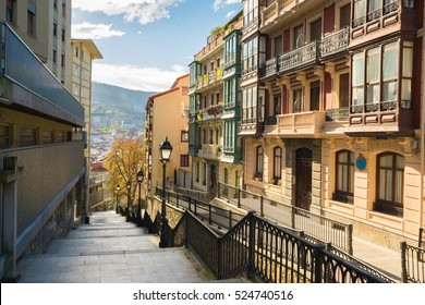 views to downtown bilbao, spain