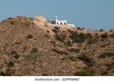 views of El Albir Lighthouse in Sierra Helada, next to Benidorm, in Alicante