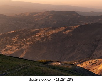 Views of el Refugio de San Francisco in Sierra Nevada, Spain, at sunset