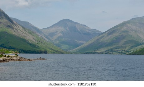 Views of the English Lake District and mountains near Wast Water in Cumbria