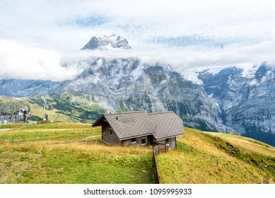 Views from First Mountain in the Jungfrau Region Grindelwald, Switzerland