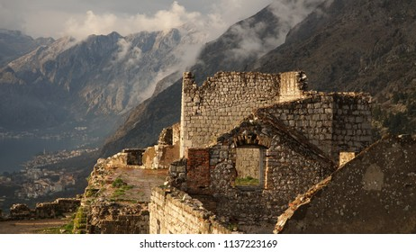 Views from the fortifications of Kotor in Montenegro.