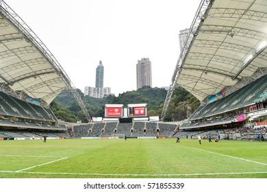 Views of  Hong Kong Stadium before match the 2017 Lunar New Year Cup between SC Kitchee (HKG) vs Muangthong United (THA) at Hong Kong Stadium on January 28, 2017 in Hong Kong.