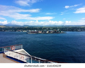 Views of Honiara from a cruise ship, Solomon Islands.