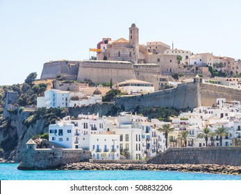 Views of the Ibiza fortress and the Cathedral
