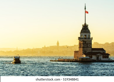 views to istanbul lighthouse and city skyline