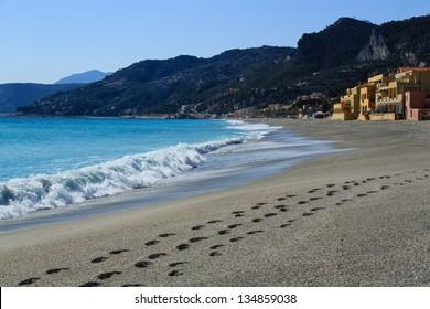 Views of the Italian village of Varigorri - Liguria.